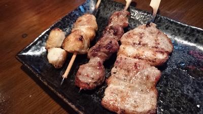 ぼんじり、豚カシラ、豚バラ