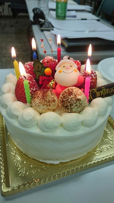 中ノ嶋ライトのクリスマスケーキ