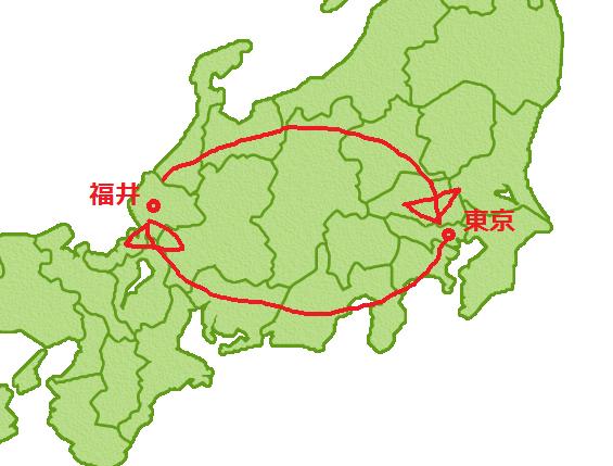 東京都福井県を1周