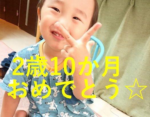 【育児】2歳10か月おめでとーーー!