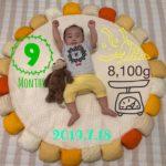 【育児】今日でちょうど生後9ヶ月!