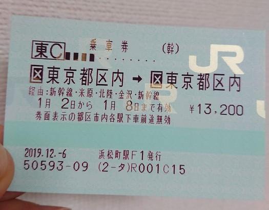 東京と福井を1周する乗車券