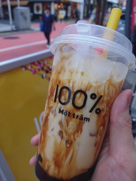 沖縄黒糖ミルクティー