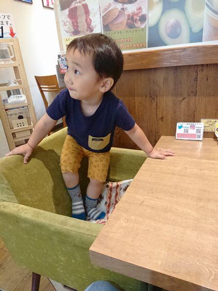 福カフェの内装