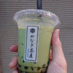 浅草やなぎ茶屋の黒糖タピオカミルクティー