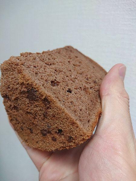 チョコチップ入りシフォンケーキ