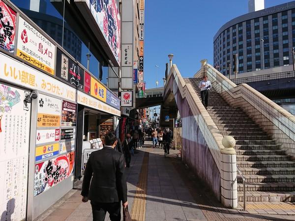 上野ストアハウスまでの道中