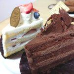 ショートケーキとチョコレートケーキ