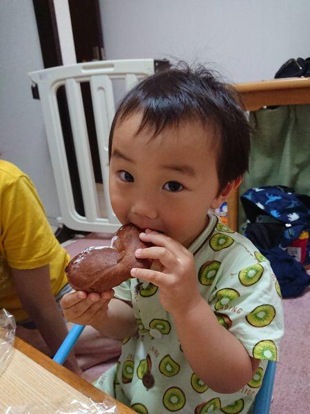 ハート形のチョコレートのパン