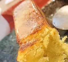 芋ようかんの上のバター