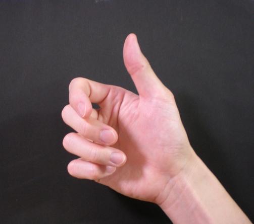 手タレ・パーツモデルをしている中西浩の手