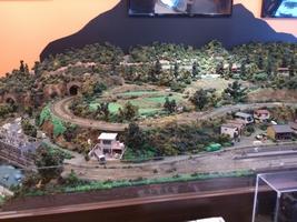 鉄道模型があるカフェ