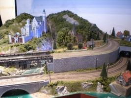 鉄道模型があるレストラン