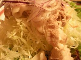 豚とサラダ