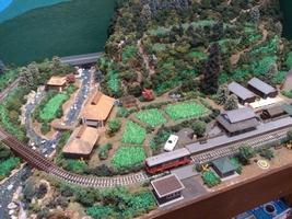 田原町駅近くの鉄道模型