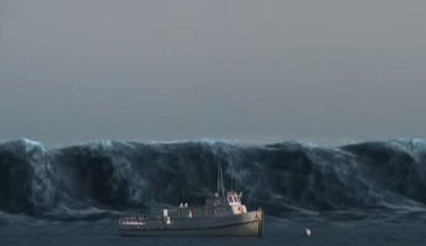 津波とサメ