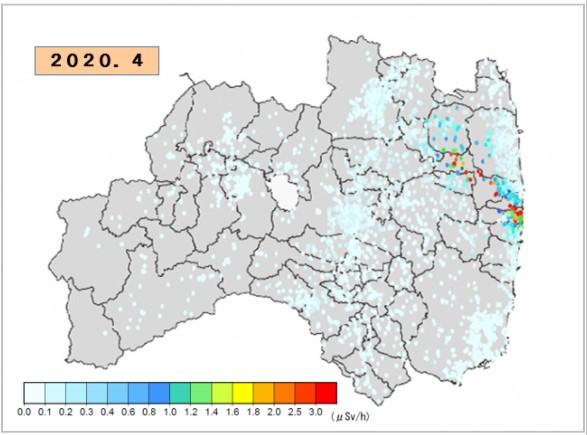 福島の最近の放射線量