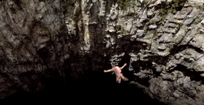サンクタムの洞窟ジャンプシーン