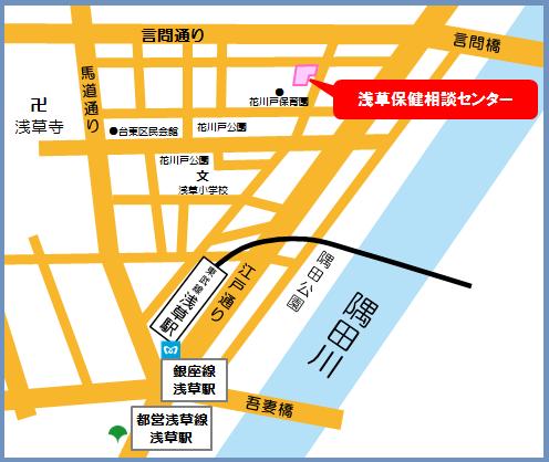 台東区おやこルーム地図