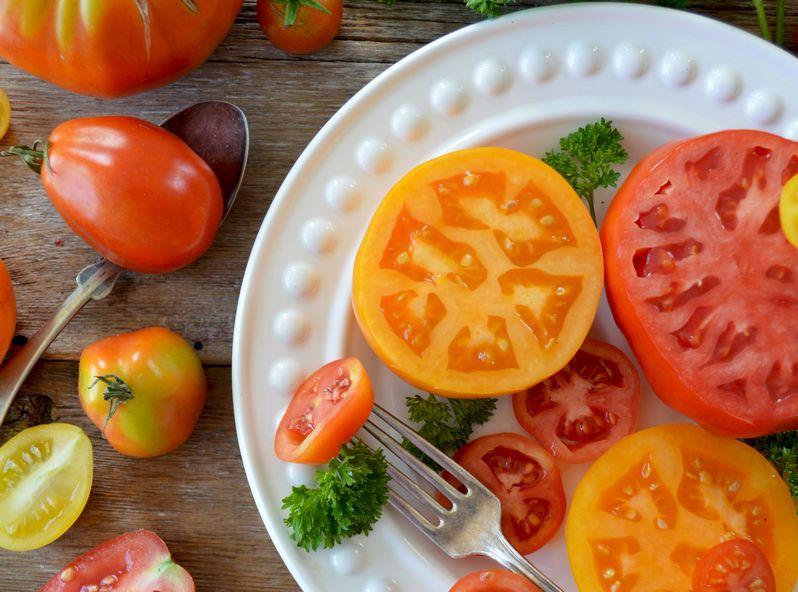 トマトの断面はいろいろある